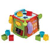 雙十二狂歡購  費雪六面盒 雙語探索學習屋 數字形狀積木早教益智嬰幼兒認知玩具小巨蛋之家