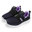 DISNEY 休閒格調 米奇亮蔥彈性休閒鞋 -藍紫(DW5638)