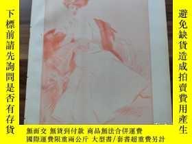 二手書博民逛書店【罕見】1890年 木刻版畫《白色女人》 (dame in we