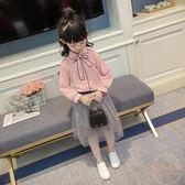女童襯衫新款韓版兒童長袖雪紡公主打底衫小女孩上衣 【販衣小築】