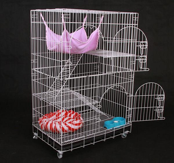 貓別墅 雙層三層貓籠折疊加粗二層寵物籠荷蘭豬加密兔籠狗籠  創想數位igo