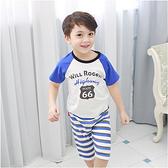 短袖居家套裝 純棉 印花 上衣 短褲 休閒褲 男童 兒童 套裝 Augelute 60154