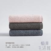 3條裝毛巾純棉成人柔軟洗臉家用吸水全棉加厚面巾【極簡生活】