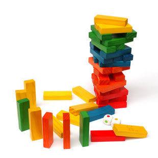 彩色疊疊高 木制