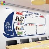 公司文化墻辦公室布置裝飾照片墻貼紙公告欄通知欄個性創意墻貼畫 OO2395【VIKI菈菈】
