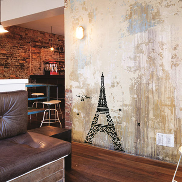 創意壁貼【WD-006 狂戀巴黎】藝術壁貼 櫥窗設計 無毒無痕 不傷牆面 創意壁貼 英國設計 窗貼
