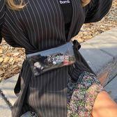 腰包 ins超火新款迷你PVC透明腰帶腰包透明果凍包左岸瀟潮胸包 卡菲婭