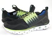 【K-SWISS】Tubes X Runner CMF運動休閒鞋-男-黑/綠漸層05297-061