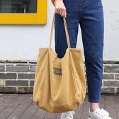 帆布袋 字母 大容量 手提包 帆布包 單肩包 環保購物袋--手提包/單肩包【AL458】 icoca  04/25