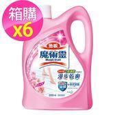 【魔術靈】地板清潔劑水漾玫瑰(2000ml  x 6入)