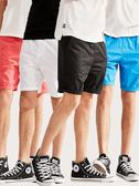 夏天男士寬鬆休閒短褲五分褲大褲衩白色夏季沙灘褲西裝褲子紅色潮   全館免運