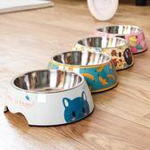 狗盆狗碗貓食盆飯盆水盆單碗不銹鋼泰迪大型犬狗狗用品寵物貓碗梗豆物語
