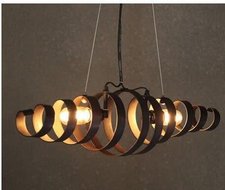 設計師美術精品館工業風美式鄉村複古吊燈歐式時尚鐵藝仿古咖啡廳吊燈個性餐廳燈