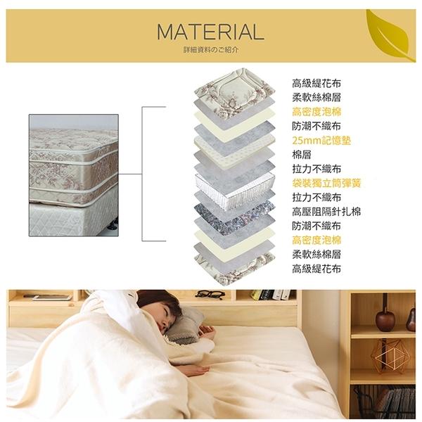 【多瓦娜】ADB-亞伯四線透氣記憶綿獨立筒床墊/單人3.5尺-150-14-A