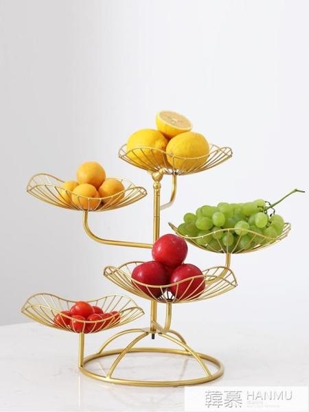 北歐多層水果盤客廳家用亞克力干果盤零食盤帶蓋透明點心盤糖果盤  牛轉好運到