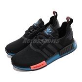 【六折特賣】adidas 休閒鞋 NMD_R1 黑 藍 男鞋 女鞋 Boost 塗鴉 運動鞋 襪套式 【ACS】 FV8524