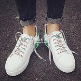 小白鞋男鞋韓版潮流男士休閒鞋學生板鞋透氣潮鞋子男『伊莎公主』