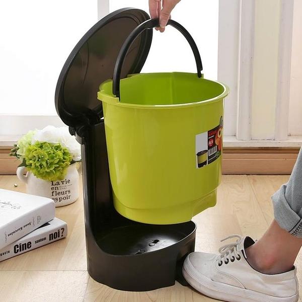 垃圾桶 衛生間腳踏翻蓋創意臥室家用客廳廚房有帶蓋大號廁所垃圾桶RM