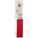 【藝匠】紅色(大)角落櫃 收納櫃 家具 組合櫃 廚具 收藏  置物櫃 櫃子 小櫃子