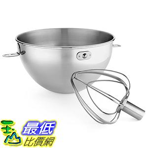 [美國直購] KitchenAid KN3CW 攪拌機配件 鋼盆+攪拌頭 3-Qt Stainless Steel Bowl & Combi-Whip for 6QT KV25G KP26M1X