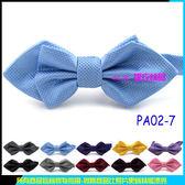 De Fy 蝶衣 淡藍色 鑽石三角領結雙層蝴蝶結尖頭領結結婚派對聚餐表演伴郎吧台PA02 7