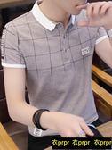 POLO衫-修身襯衫領polo衫韓版半袖上衣 衣普菈