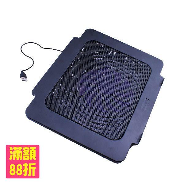 筆電散熱座 單顆大風扇 靜音升級 可調整角度 NB 散熱墊 散熱架 筆電散熱器(80-0977)
