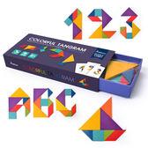 益智玩具男孩女寶寶早教拼圖兒童智力玩具3-7歲木質七巧板小學生益智積木