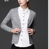 針織外套-羊毛長袖V領短款舒適女毛衣外套3色72ak2【巴黎精品】