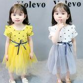 洋裝連身裙女寶寶夏裝0-1-2-3歲女童夏季紗裙子4嬰兒童洋氣公主裙小童連衣裙三角衣櫥