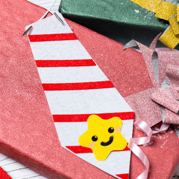 【BlueCat】兒童DIY聖誕節不織布領帶材料包材料包