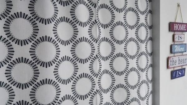 可愛時尚棉麻門簾289 廚房半簾 咖啡簾 窗幔簾 穿杆簾 風水簾 (120寬*180cm高)