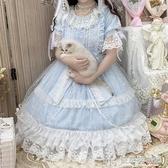 原創設計洛麗塔Lolita星頌op夏日清新甜美輕花嫁款日常洋裝洋裝  快意購物網