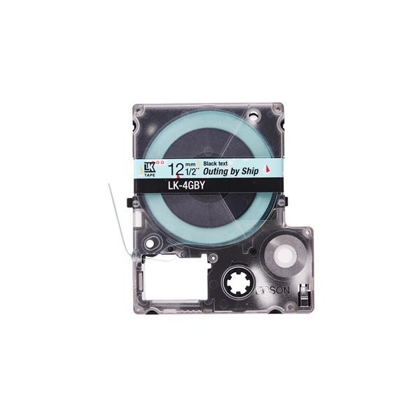 EPSON LK-4GBY 原廠標籤帶 海洋船(12mm) C53S654467
