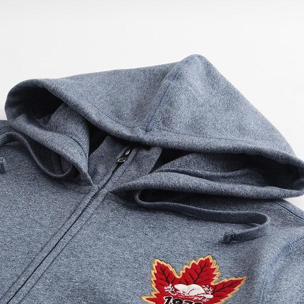 Roots-男裝-周年系列  複合材質補丁連帽外套 - 藍色