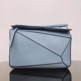 ■專櫃83折■ Loewe 全新真品 中款經典小牛皮Puzzle包 藍色