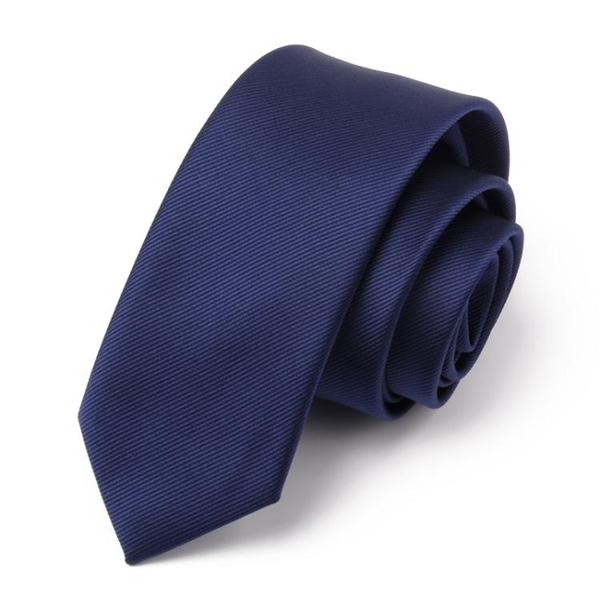 限定款西裝領帶 正韓男士正裝領帶男商務6CM小藍色黑色上班職業拉鍊領帶窄版迷你潮