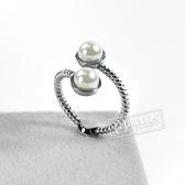 PH PAUL HEWITT / PH-FR-ROPE-S / 德國品牌 Rope Pearl 珍珠繩索造型 不鏽鋼戒指 銀色 50.52.54.56mm
