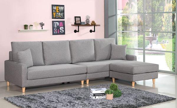 【南洋風傢俱】沙發系列-諾可西L型布沙發 北歐造型L型沙發  SB148-2
