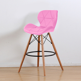 【E-home】二入組 Fly芙萊蝴蝶吧檯椅 四色可選(吧檯椅)粉紅色X2