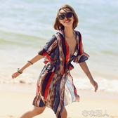 比基尼三件套分體泳衣女韓國溫泉ins風性感小胸保守遮肚顯瘦溫泉 布衣潮人 贴身衣物 不退不换