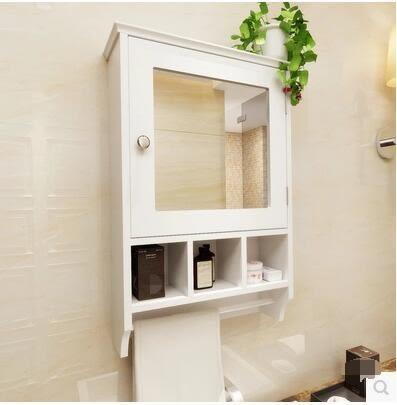 防水浴室鏡櫃鏡箱衛生間牆壁櫃帶鏡子洗手間吊櫃壁掛櫃廁所置物櫃