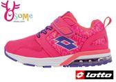 LOTTO運動鞋 童 輕巧玩色 輕量 氣墊慢跑鞋L8633#粉紅◆OSOME奧森童鞋/小朋友