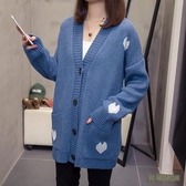 胖mm大碼女裝秋冬新款寬鬆洋氣針織開衫毛衣外套女200斤長袖外套 EY10015[3C環球數位館]