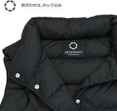 Nishikawa【日本代購】東京西川 女款羽絨背心 90%白鴨絨 - 黑色