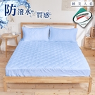 《DUYAN竹漾》高效防潑水透氣雙人床包式保潔墊- 睡美人藍