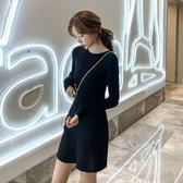 NiCELIFE 毛衣洋裝【D3035】 長袖洋裝 針織連衣裙 韓 修身 高腰 顯瘦 針織裙 毛衣裙