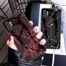 三星 Galaxy Note10+ 手機殼 防摔 三星note10 鋼化玻璃背蓋 保護套 全包 矽膠軟邊 大理石
