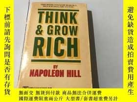 二手書博民逛書店英文原版:think罕見and grow rich 思考致富 書