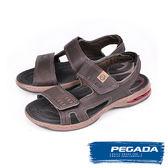 【PEGADA】巴西名品氣墊運動涼鞋  深咖啡(31904-DBR)